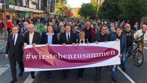Demonstration in Marburg gegen Antisemitismus und rechte Gewalt