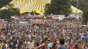 Festival mit 40.000 Menschen in England