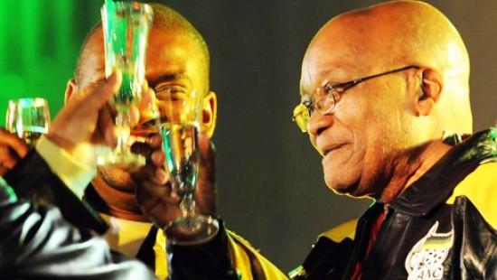 Zuma feiert schon
