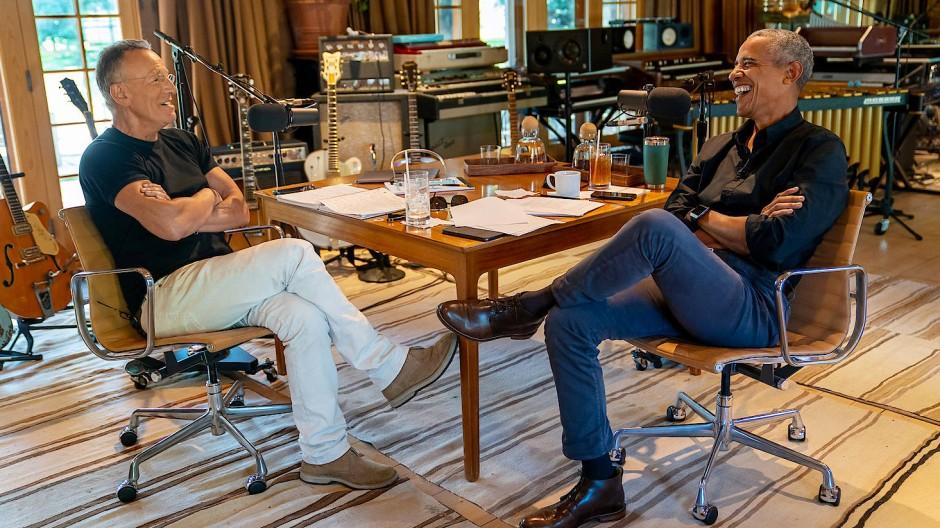 Bruce Springsteen und Barack Obama im Gespräch