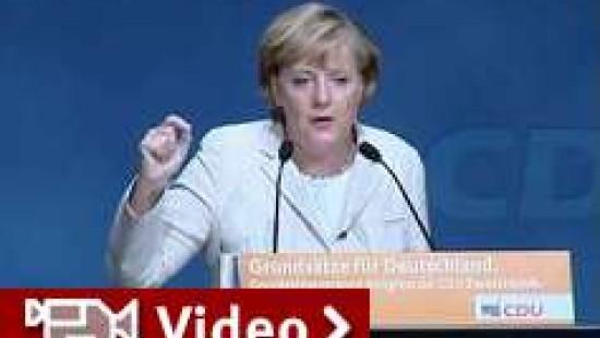 Merkel schwört CDU auf Reformkurs ein