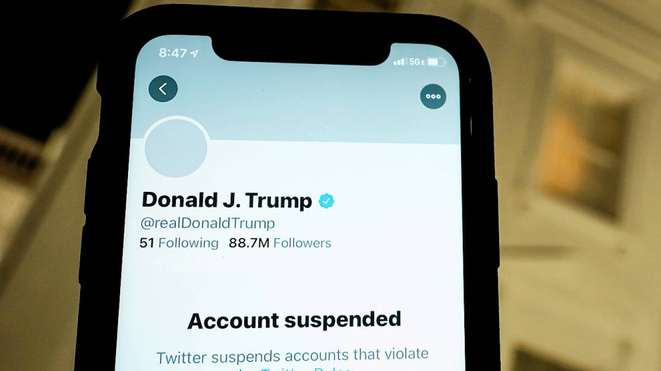 Der Twitter-Account von Donald Trump wurde gesperrt.