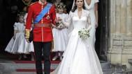 Kates Hochzeitskleid von Sarah Burton entworfen