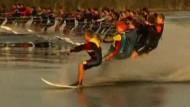 114 Sportler: Neuer Weltrekord im Wasserski