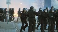 Proteste und Festnahmen in Straßburg