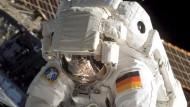 Außeneinsatz an der Raumstation ISS