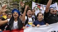 Venezolanische Demonstranten gegen Präsident Nicolas Maduro