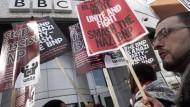 Proteste gegen BBC
