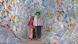 Museum aus Plastikmüll wird Selfie-Spot