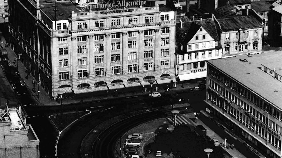Ein Zeitungshaus am Goetheplatz: der Sitz der F.A.Z. von 1950 bis 1961