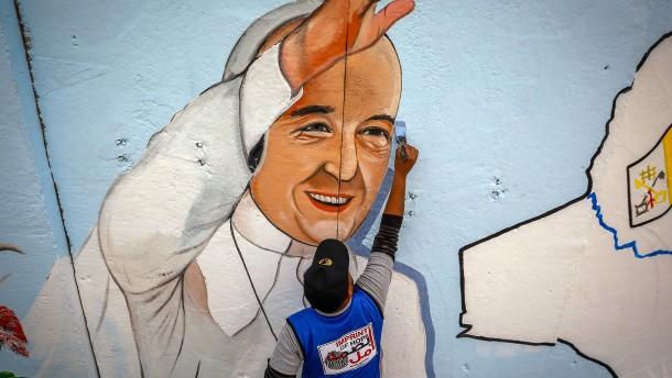 Erst der Papst, dann die Journalisten