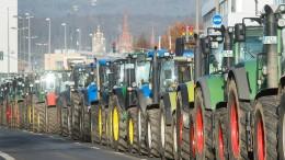 Mit Tausend Traktoren gegen Agrarpolitik