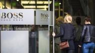 Der Online-Handel sorgt für Kopfzerbrechen in der Firmenzentrale von Hugo Boss in Metzingen.