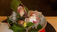 Ein langsames Kunstwerk: Sashimi Teller im japanischen Restaurant Nihonryori Ken