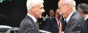 Wer war schneller in Sachen Selbstanzeige? VW-Chef Matthias Müller oder Daimler-Kopf Dieter Zetsche?