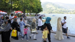 viele araber in zell am see