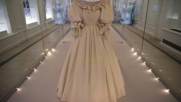 Prinzessin Dianas Kleid in ihrem Palast