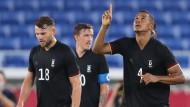 Olympisches Fußballturnier: Deutschland siegt mühevoll in Unterzahl