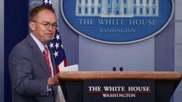 Trumps Stabschef bringt den Präsidenten in Bedrängnis