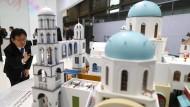 Kleine Modellwelt, große Geschäfte: MWC-Stand des chinesischen Smartphone-Herstellers Oppo