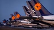 Flugzeuge am Frankfurter Flughafen
