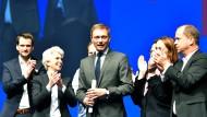 Die wollen Kanzler machen: Lindner auf dem FDP-Landesparteitag Anfang April in Hamm