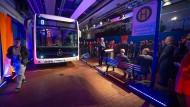 Made in Stuttgart: In Wiesbaden sind Anfang April die Busse mit dem Mercedesstern gezeigt worden.