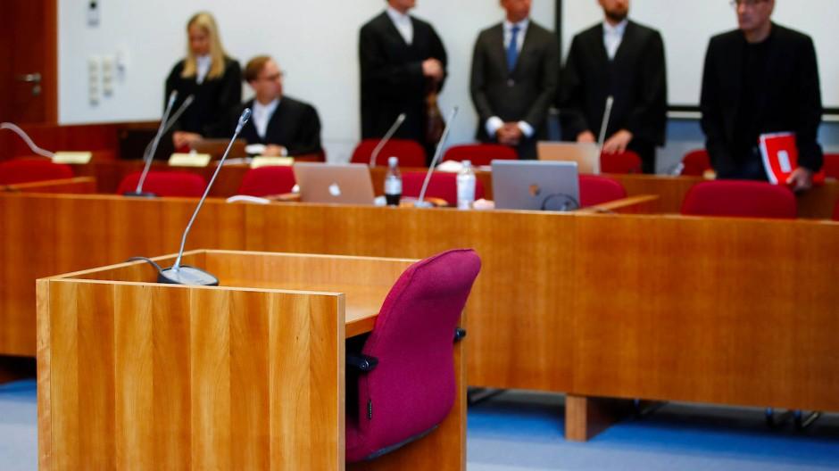 Schwurgerichtssaal im Landgericht Bonn