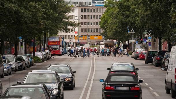 Stadtstraße oder zentrale Verkehrsader
