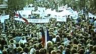 Erinnerung an die Samtene Revolution