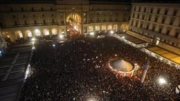 Großdemo gegen rechtsradikale Lega in Florenz