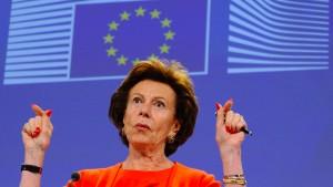 Frühere EU-Kommissarin Kroes soll Briefkastenfirma unterhalten haben