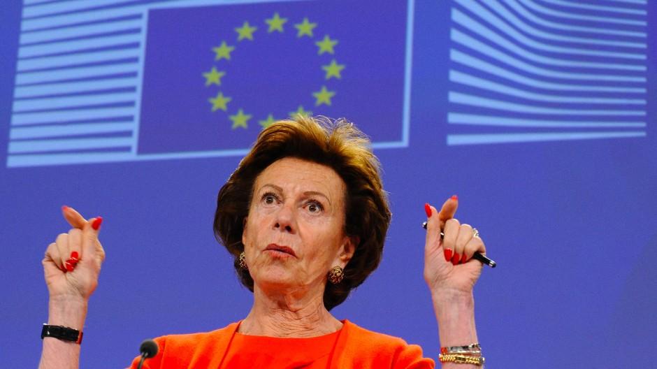 Die frühere EU-Kommissarin Neelie Kroes.