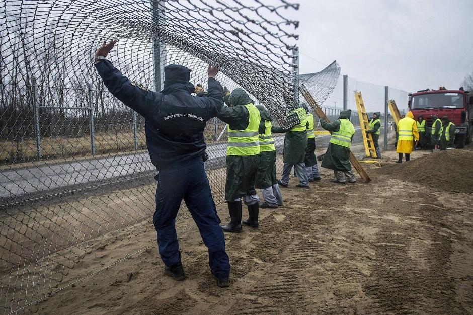 Grenzzaun zwischen Ungarn und Serbien