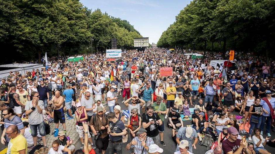 Demo gegen die Corona-Politik am 1. August in Berlin