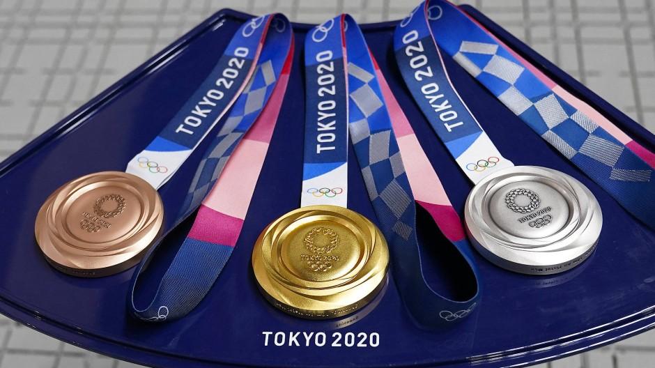 Die begehrten Olympia-Medaillen von Tokio