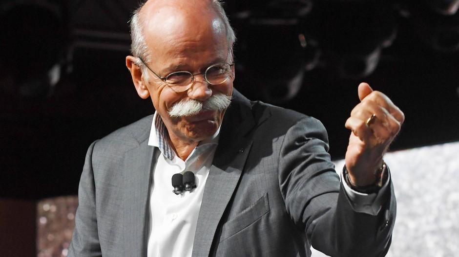 Kann sich freuen: Daimler-Chef Dieter Zetsche.