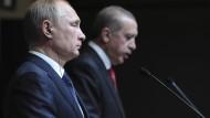 Putin und Erdogan in 2014