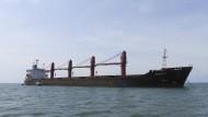 """Das nordkoreanische Frachtschiff """"Wise Honest"""""""