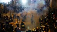 Die Demonstrationen in Hongkong dauern an.