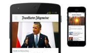 Die FAZ.NET App für das iPhone und Android-Smartphones