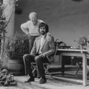 """Damals in den Siebzigern: """"Carmina Burana"""" Komponist Carl Orff mit seinem Verleger Peter Hans-Strecker"""