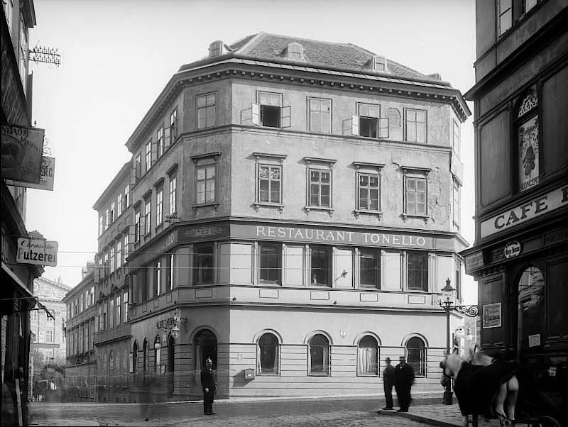 """Wien im Jahr 1903: Das """"Tonello"""" war eines der klassischen Wirtshäuser."""