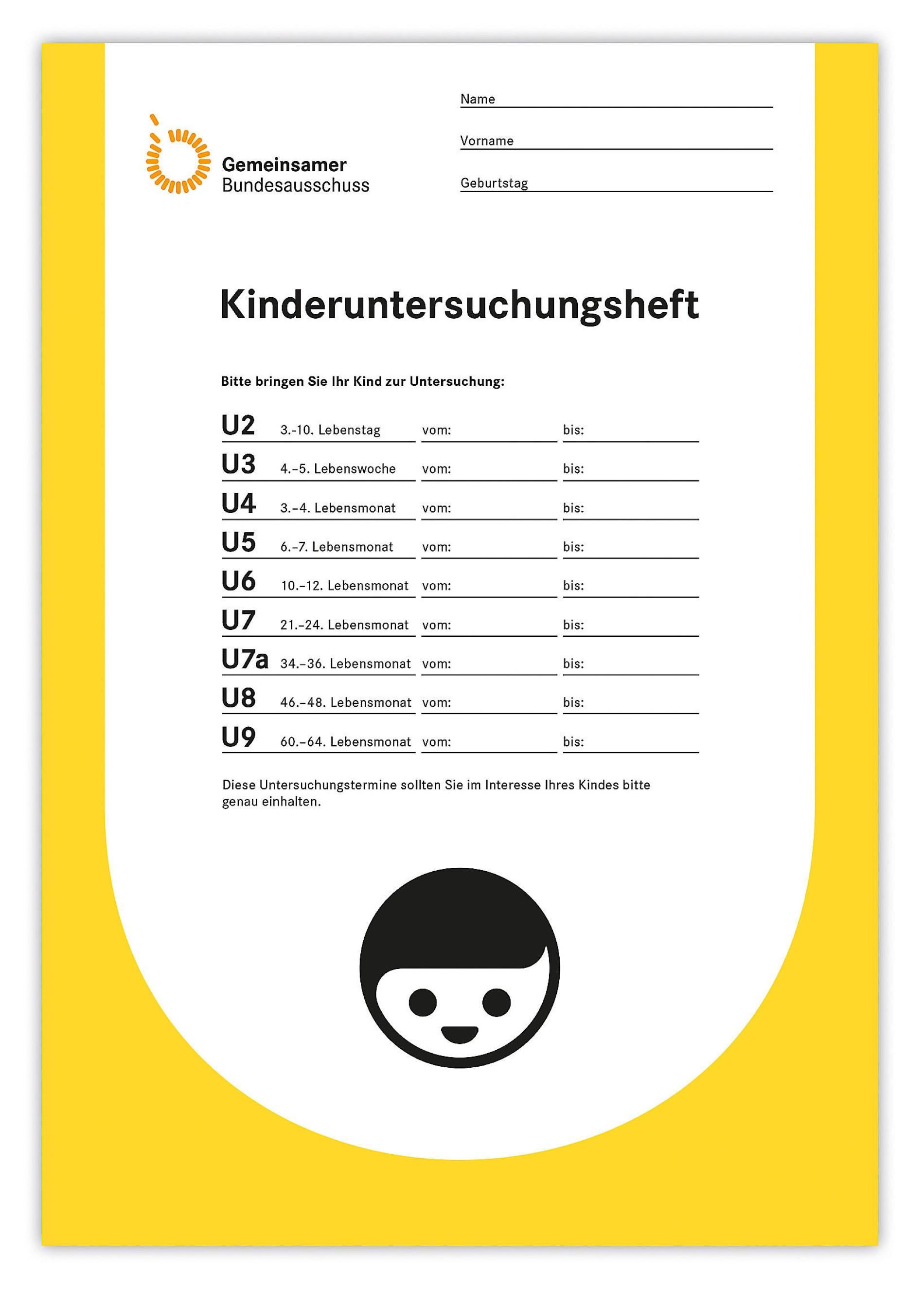 Turbo Vorsorge: Das gelbe U-Heft wurde reformiert. KZ23