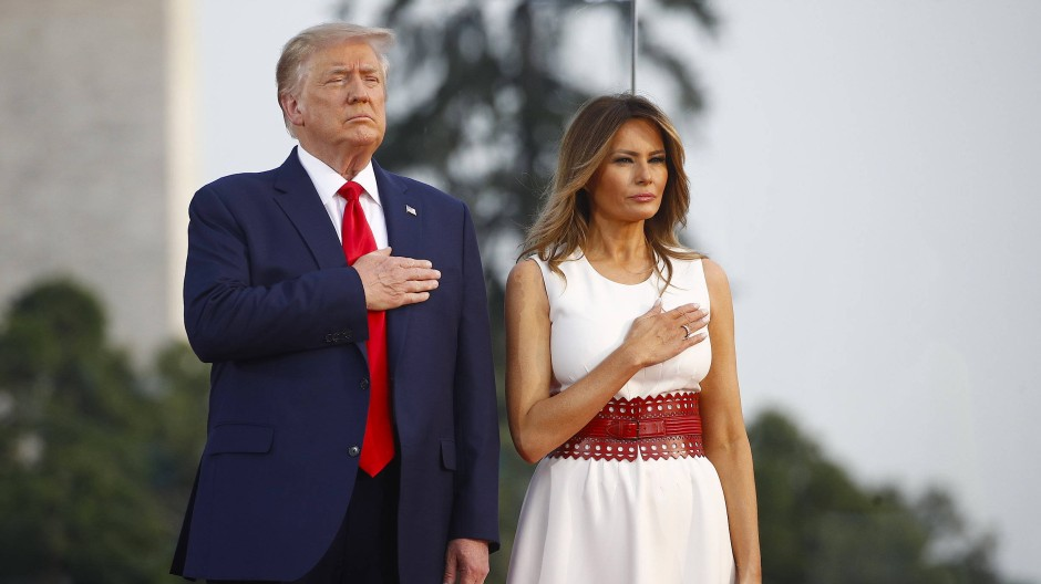 Donald und Melanie Trump am Unabhängigkeitstag in Washington