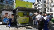 Wiesbaden informiert über die mögliche Citybahn. Dennoch stößt das Projekt bei vielen Bürgern auf Ablehnung.