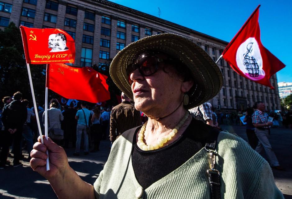 Bewunderung für Lenin und Stalin: Szene aus dem Mai dieses Jahres in Moskau