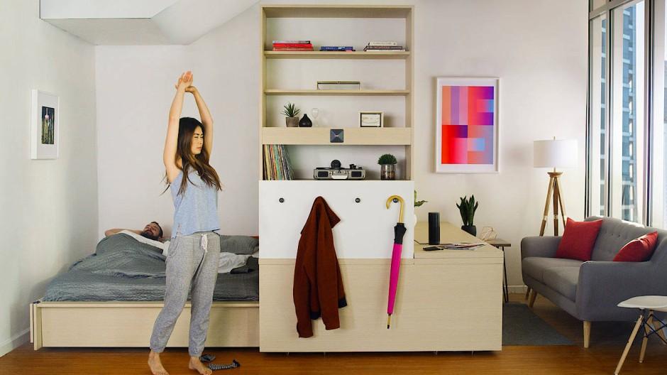Autonome Möbel machen Mikroapartments wohnlicher