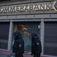 Am Tag der Blockupy-Proteste gingen in Frankfurt einige Scheiben zu Bruch, Bild vom 18. März