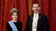 Neuer Pomp: Letizia und Felipe VI. im Februar beim Staatsbankett